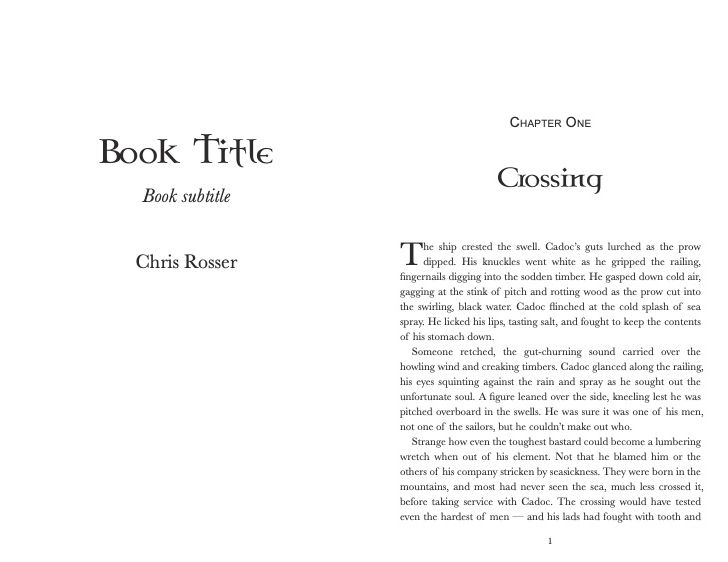 Title page and chapter page