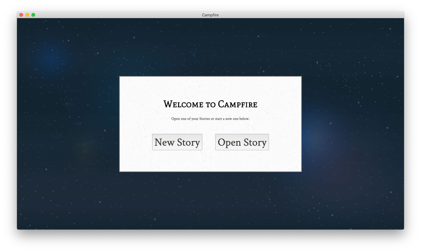 Campfire create/open project