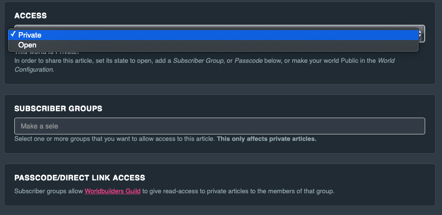 Article permissions